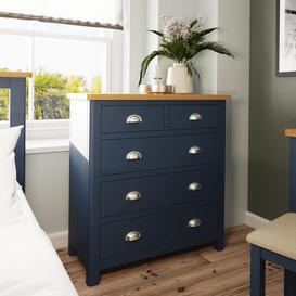 image-Wittenham Painted Furniture Blue Painted 2 over 3 Chest of Drawers