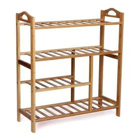 image-Natural Bamboo 4 Tier Shoe Rack Symple Stuff