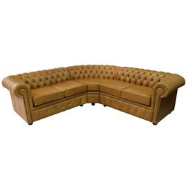 image-Chesterfield Corner Sofa Unit Cushioned 2 Seater + Corner&amphellip