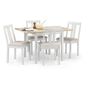 image-Rufford Two Tone Dining Table and 4 Ivory Chairs Ivory