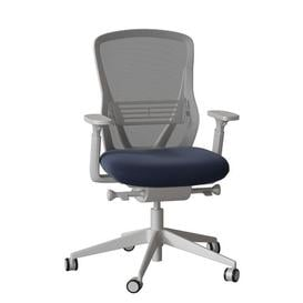 image-Dalton Ergonomic Mesh Task Chair Senator Frame Colour: Light Grey, Back Colour: Storm, Upholstery Colour: Momentum Origin Iron