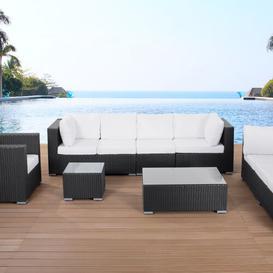 image-Maestro 8 Seater Rattan Sofa Set Sol 72 Outdoor Colour (Frame): Black