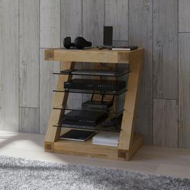 image-Z Solid Oak Furniture Hi Fi Unit
