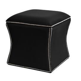 image-Diss Storage Ottoman BelleFierté Upholstery Colour: Black