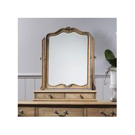 image-Chic Dressing Table Mirror In Weathered