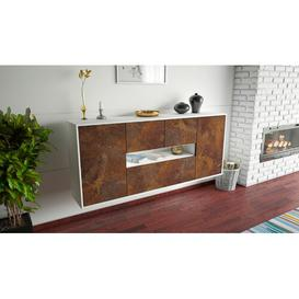 image-Stainforth Sideboard Brayden Studio Colour (Body/Front): White mat/Brown