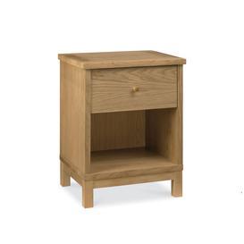 image-Atlanta Oak Furniture 1 Drawer Bedside Cabinet