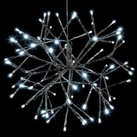 image-160 LED White Outdoor Shiny Silver Christmas Decoration Mains 10M