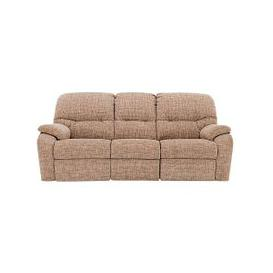 image-G Plan - Mistral 3 Seater Fabric Recliner Sofa