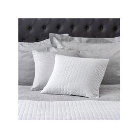 image-White Gridstitch Cushion White
