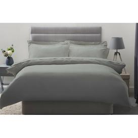 image-Plain Dye 600 TC Cotton Sateen Duvet Cover Belledorm Size: Super King, Colour: Platinum