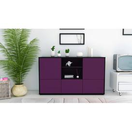 image-Guffey Sideboard Brayden Studio Body and front colour: Black and purple