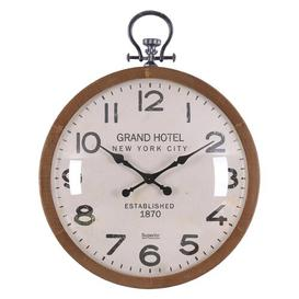 image-Roucourt Oversized Grand Hotel New York City 73.5cm Wall Clock Brambly Cottage