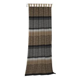image-Lott Tab Top Room Darkening Single Curtain Mercury Row Curtain Colour: Grey/Brown, Size: 245cm H x 132cm W