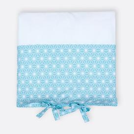 image-White Diamonds Changing Table Mat Cover KraftKids Colour: Blue/White