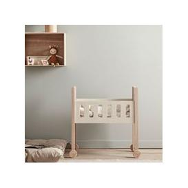 image-Kids Concept Nature Doll Cot with Bed Set