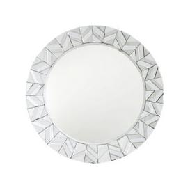image-White Montague Tiled Round Wall Mirror