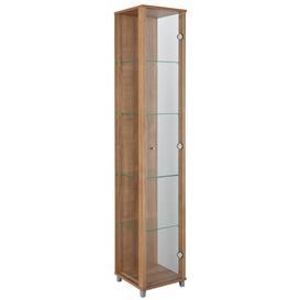 image-Habitat 1 Door Glass Display Cabinet - Light Oak
