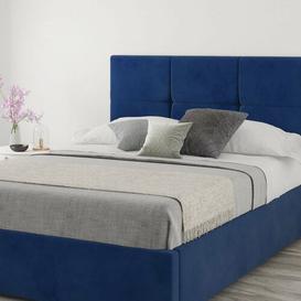 image-Kellen Upholstered Headboard Brambly Cottage Size: Kingsize (5'), Upholstery: Velvet Navy