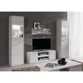 "image-Olcay Entertainment Unit for TVs up to 85"" Ebern Designs Colour: White Oak/White Gloss"