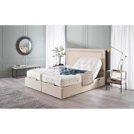 image-Vispring Sapphire II Adjustable Recliner Elegance Mattress with Arcadia Headboard - Super King 180 x 200cm - 6ft - No Drawers - Supplement Fabric B