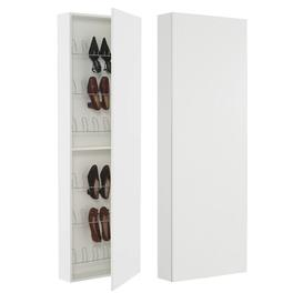 image-12 Pair Shoe Storage Cabinet Ebern Designs Finish: Walnut