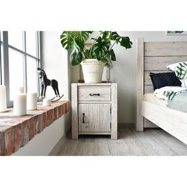 image-White Springs 1 Drawer Bedside Table Beachcrest Home