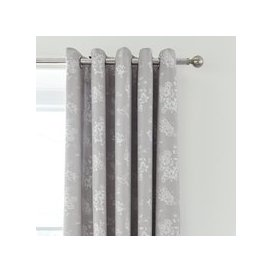 image-Gianna Grey Floral Blackout Eyelet Curtains Grey