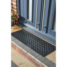 image-Mud Stopper Reddish Lattice Runner Doormat