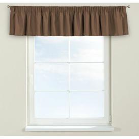 image-Loneta Curtain Pelmet Dekoria Size: 390cm W x 40cm L, Colour: Brown