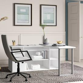 image-Alves L-Shape Executive Desk Ebern Designs
