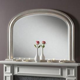 image-Yearn Beaded Mantle Mirror Silver Silver