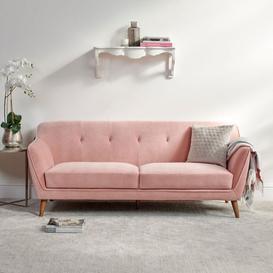 image-Freddie 3 Seater Dusty Pink Sofa