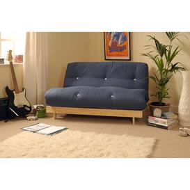 image-Kaitlynn 1 Seater Futon Chair Zipcode Design Upholstery Colour: Navy, Size: Single (3')