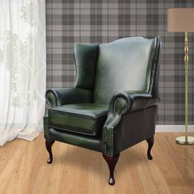 image-Richmond Chesterfield Armchair UK Manufactured Antique Green