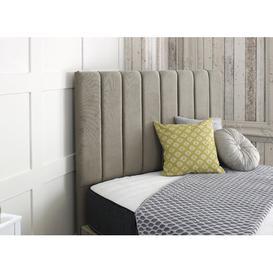 image-Upholstered Headboard Willa Arlo Interiors Size: Double (4'6), Upholstery: Pebble