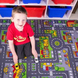 image-Play Town Village Roads Kids Rug