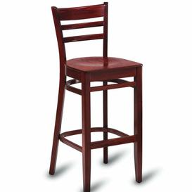 image-Bar Stool ClassicLiving Colour: Walnut Stained