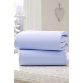 image-Clair de Lune 2 Pack Fitted Cotton Jersey Pram/Crib Sheets