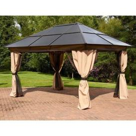 image-Glendale Exquisite 2.5 x 2.5M Gazebo With Curtains Brown