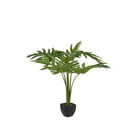 image-Artificial Split Leaf Foliage Plant in Pot Bay Isle Home
