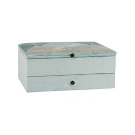 image-Green and Gold Jewellery Box with Print