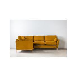 image-Nora Left Hand Chaise Sofa Bed in Medallion Gold