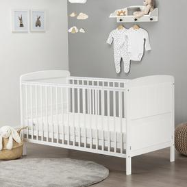 image-Juliet Lullaby Cot Bed with Mattress CuddleCo