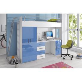 image-Asturia High Sleeper Bedroom Set Selsey Living Colour: Blue