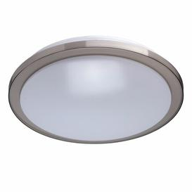 image-Mangum 1-Light LED Flush Mount Mercury Row Fixture Finish: Grey