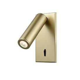 image-W075 Adjustable Surface Mounted LED Wall Reading Light In Matt Gold