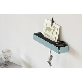 image-Key Hooks Ebern Designs Colour: Pastel turquoise/Black, Material (Auflage): Filz