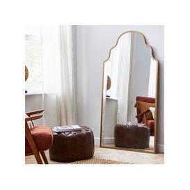 image-Moroccan Leaner Mirror 80x150cm Silver