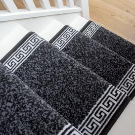 image-Black Border Stair Carpet Runner - Cut to Measure